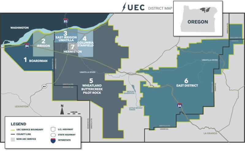 UEC Distric Map